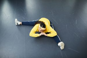 Entrenamiento en el suelo con un pavimento perfecto